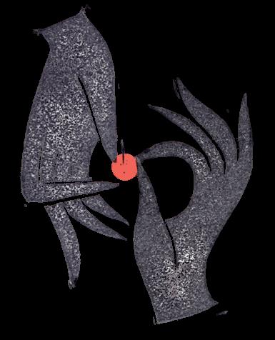 Argot Logo - Due mani sostengono una pallina rossa.